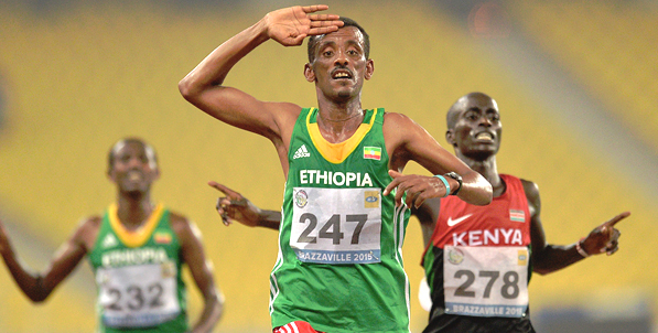 Tebabu Zawude on his way to win the 10,000m race (Photo: Getty Images)