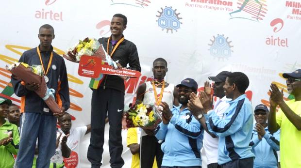 Men's category winner Terefe Debela of Ethiopia