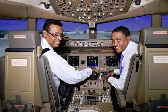 Boeing flight simulator (photo: ethiopianAirlines.com)