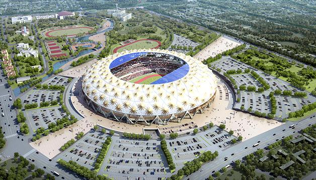 Adey Abeba Stadium Construction