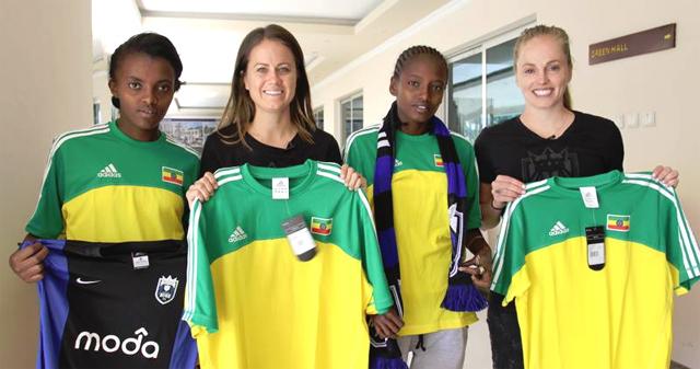 (L-R) Emebet Addisu, Lauren Barnes, Elli Reed and Tsion Seyera (photo: US Embassy)
