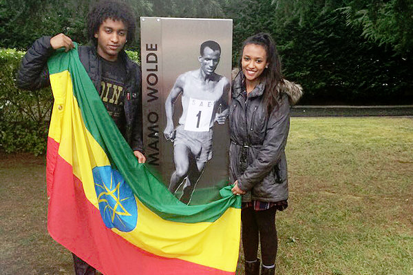 Tabor and Addis, Mamo Wolde's children (photo: iaaf.org)