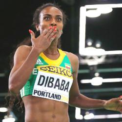 Genzebe Dibaba defends 3 000m crown