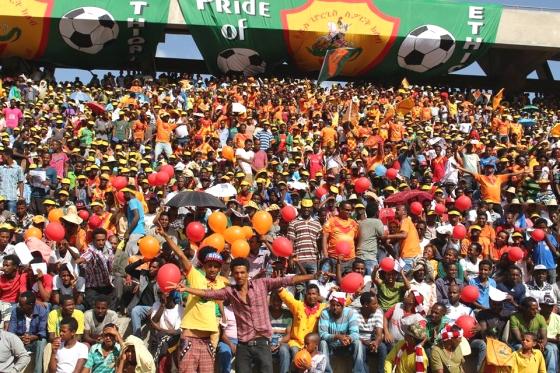 Saint George fans in Bahir Dar