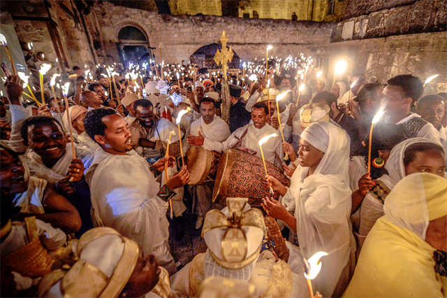 Ethiopians celebrating Fasika in Jerusalem (phto: Aviram Valdman, thetower.org)