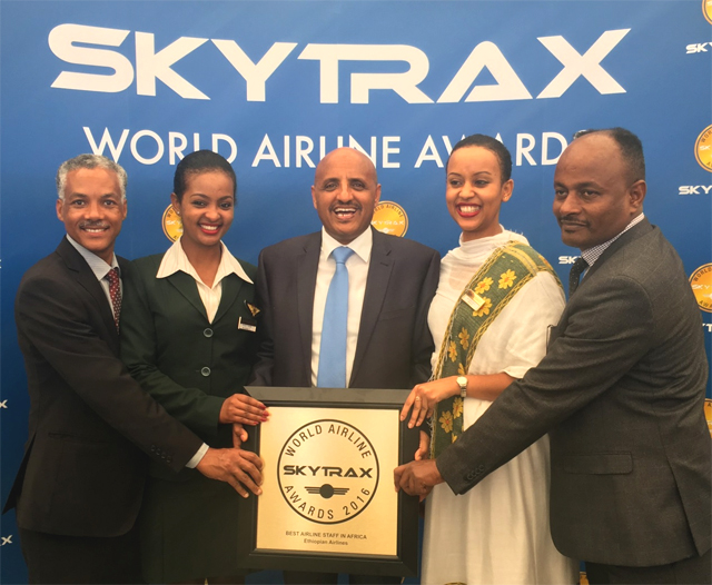 """Ethiopian wins SkyTrax World Airline Award for """"Best Airline Staff in Africa"""""""