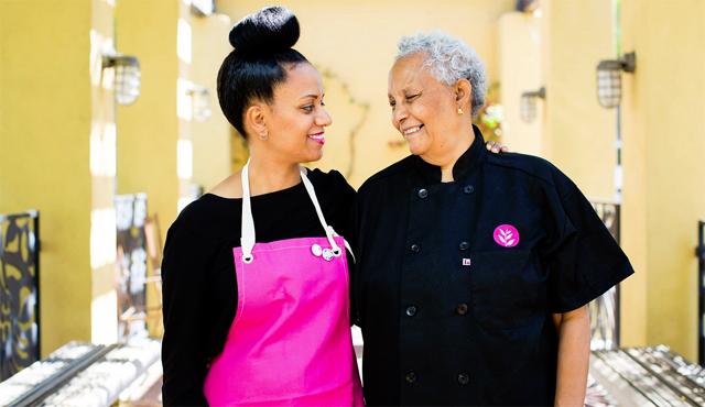 Nesanet and Azla, owners of Azla Vegan    Photo by: Alicia Cho