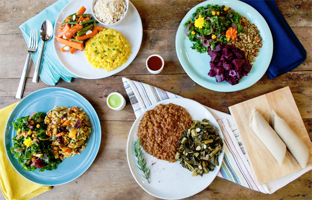 Almost Addis Ababa · Azla Vegan offers a variety of traditional recipes and allows L.A. residents to explore Ethiopian culture. They have recently partnered with hip-hop artist Ras G of Brainfeeder records.Photo courtesy of Azla Vegan
