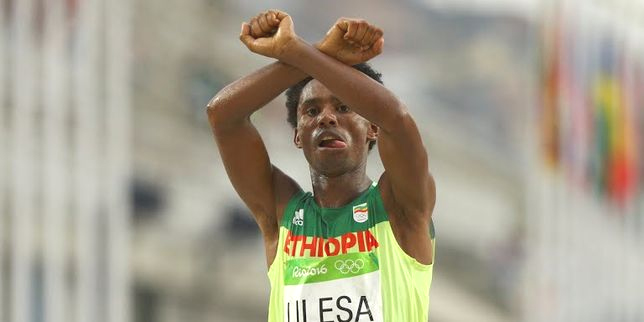 Feyisa Lilesa (photo credit: http://meltnews.com)
