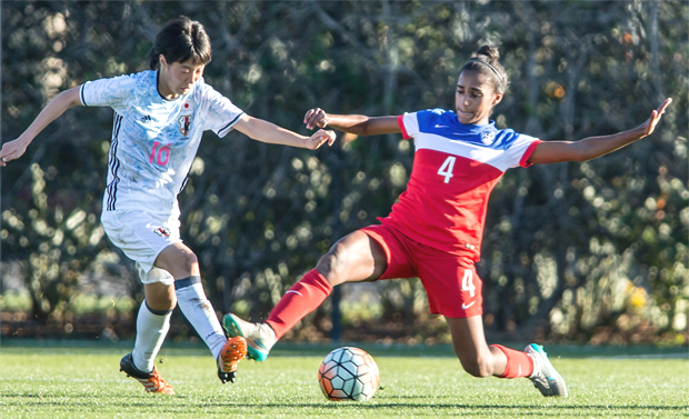 A starting center-back for the U-17 WNT, Girma has captained the USA on several occasions. (Photo credit: USSoccer.com)