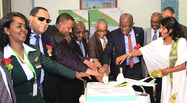 Ethiopian airlines celebrate the inaugural flight to Moroni, Comoros (photo: Ethiopian airlines)