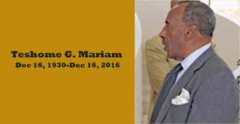 Prominent Attorney Teshome G. Mariam Passes Away at 86