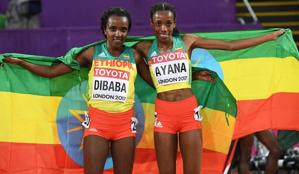 Gold & Silver Medals For Ethiopia In Women's 10000m