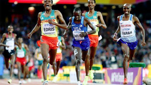 Muktar Edris defeats Mo Farah to win Gold Medal for Ethiopia in Men's 5000m