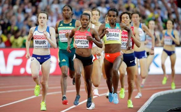 Ethiopia's Genzebe Dibaba and Mohammed Aman stare down barrel of elimination; advance from heats