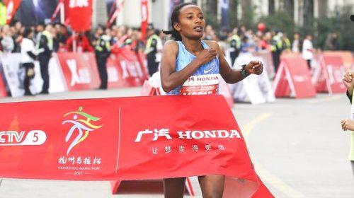 Tsega and Bekele break course records in Hangzhou