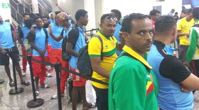 Walias of Ethiopia arrive in Kigali