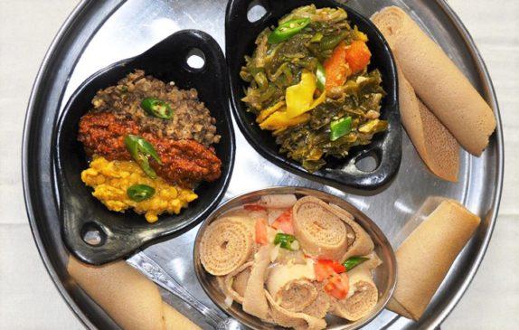 Injera: the bike wheel-sized base of Ethiopian cuisine
