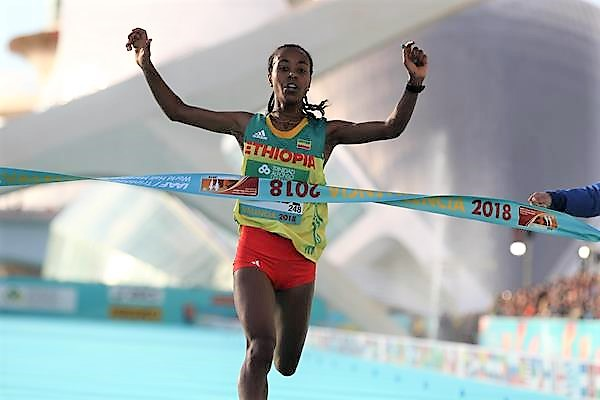 Gudeta shatters women's half marathon record in Spain