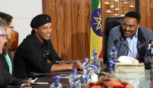 Brazilian Football Legend Ronaldinho Arrives in Ethiopia