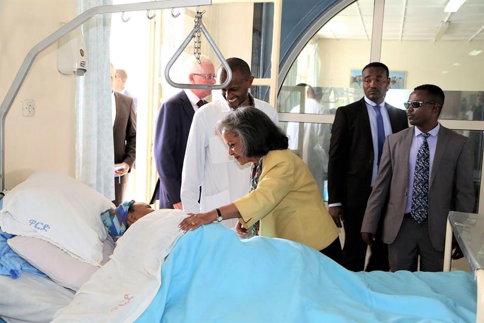 President Sahle-Work Visits Hamlin Fistula Ethiopia