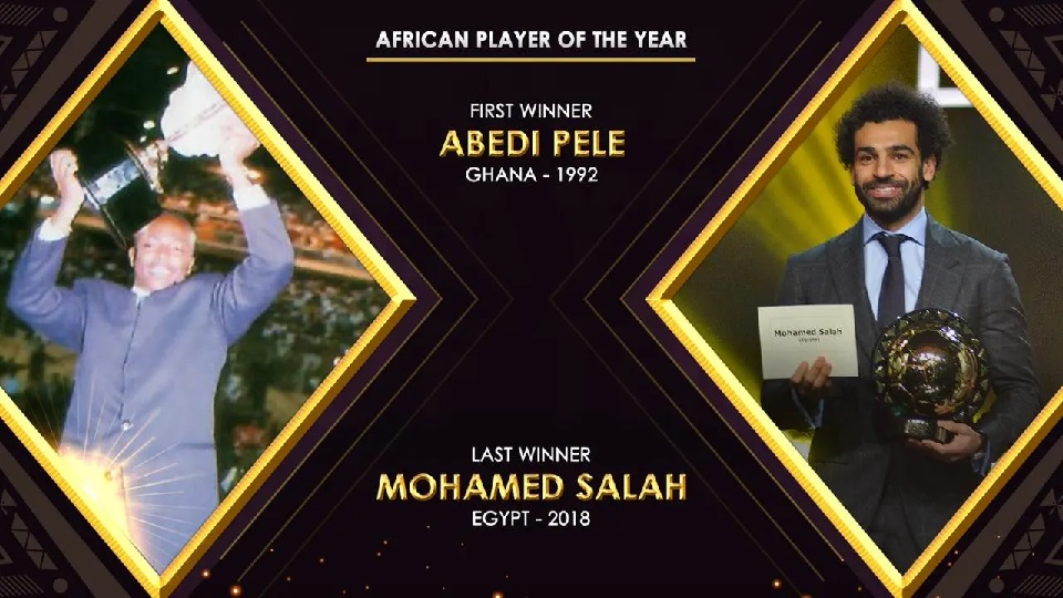 28-years of CAF Awards, from Abedi Pele to Mohamed Salah
