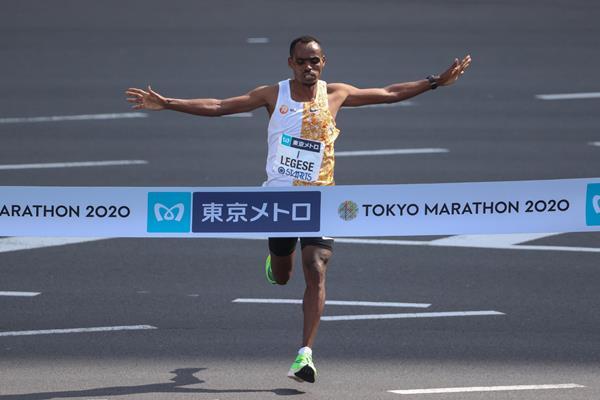 Legese retains Tokyo Marathon crown