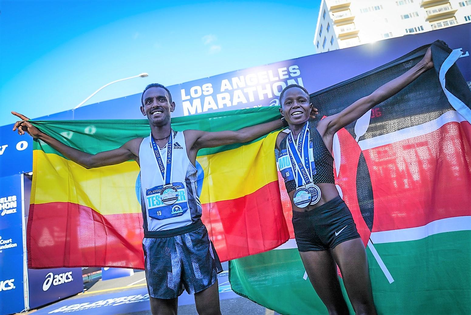 Bayelign Teshager of Ethiopia wins 2020 Los Angeles Marathon